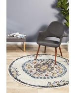 Babylon 202 white Rug 200x200