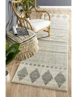 Adani  Modern Tribal Design Rug Grey 400X80cm