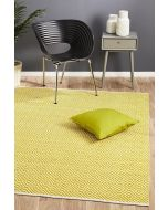 Villa Modern Diamond Rug Yellow 270x180cm