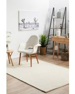 Carlos Felted Wool Rug White Natural 280x190cm
