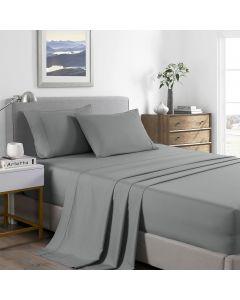 Royal Comfort Bamboo Cooling 2000TC Sheet Set Double - Mid Grey