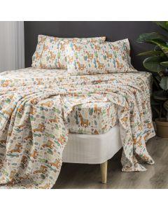 Park Avenue 175 GSM Egyptian Cotton Flannelette printed Sheet Sets Mega queen Alpaca