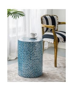 Turquoise Shell Stool