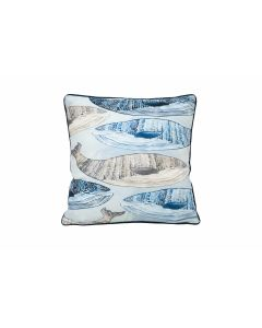 Swimming Whales Cushion Small