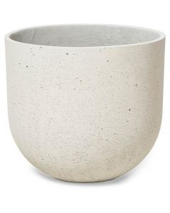 Round Lime Concrete Pot Large - Natural White