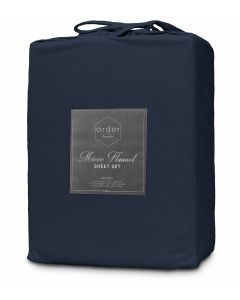 "Ardor Boudior ""Micro Flannel"" Sheet Set - King - Navy"