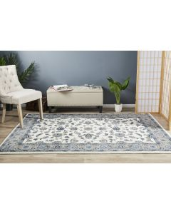 Classic Rug White with Beige Border 400x300cm
