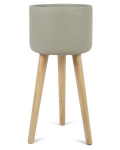 Concrete Tall Planter on Stilts Large - Grey