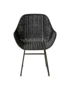 Cove Black Rattan Dining Chair