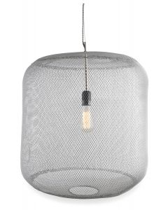 Mesh Iron and Brass Pendant Hanging Light Large with Copper Detail