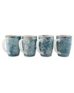 Set of 4 Porcelain Mugs