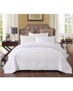 Pure White  100% Cotton Coverlet Super King 265cm x 285cm