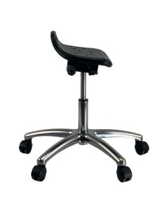 CURRIE Sit-Stand AFRDI Chrome Base Office Lab Stool