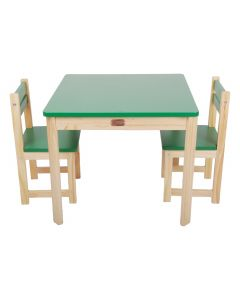 Little Boss Square Table and Chair Set Green
