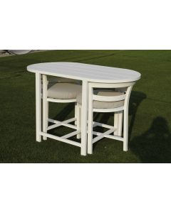 Juno Outdoor 3Pc Balcony Dining Set - White