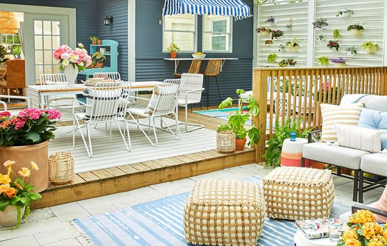 How to Style a Small Outdoor Area or Balcony